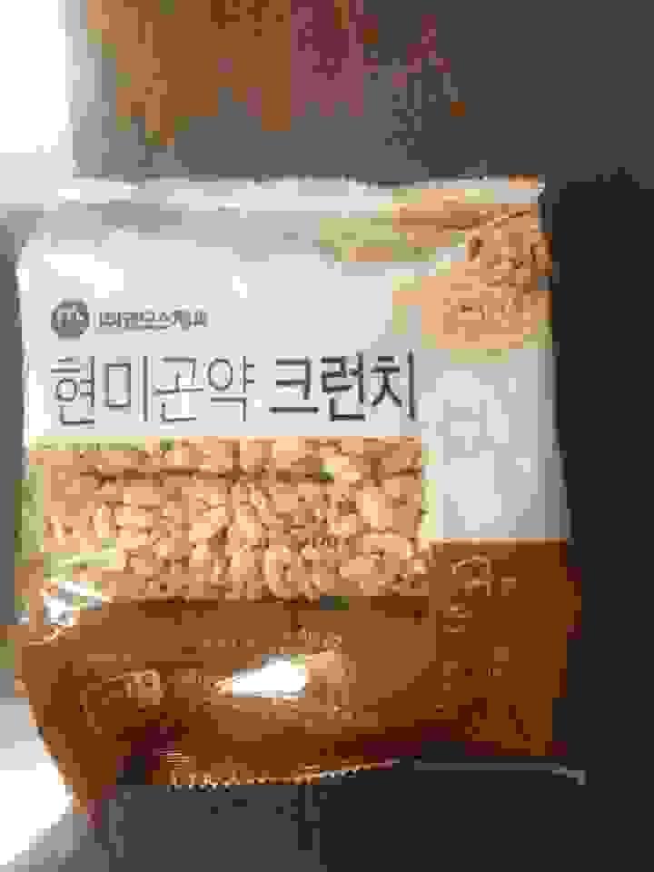맘모스제과 현미 곤약 크런치 쌀과자  리뷰 후기