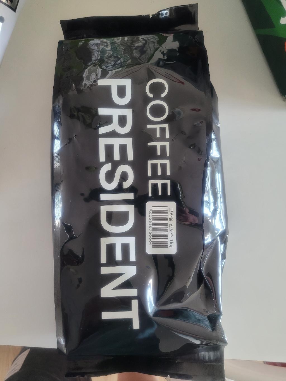커피대통령 브라질 산토스 NO2 원두커피  리뷰 후기