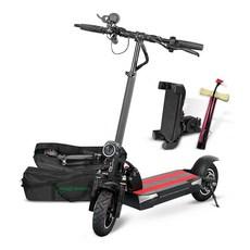 나노휠 전동킥보드 21Ah배터리 + 전용가방 + 휴대폰거치대 + 펌프, NQ-02 PLUS+, 블랙