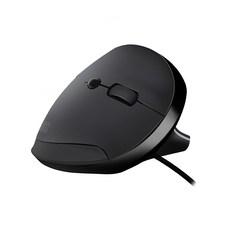 앱코 인체공학 버티컬 유선 마우스 AEM20, black
