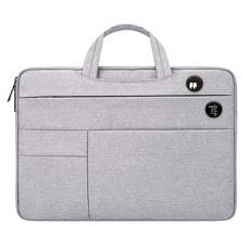 디스트 젤리코코 노트북 파우치 + 핀버튼 2종 세트, 파우치(그레이), 핀버튼(A, B)