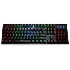 맥스틸 기계식 유선키보드 청축, TRON G610K V2 RGB, 혼합색상