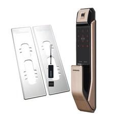 삼성SDS 지문인식 푸시풀 디지털 도어락 SHP-P71F + 보강판 2p