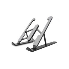 웰럽 프리미엄 ABS 접이식 노트북 거치대 WL-1208, 블랙