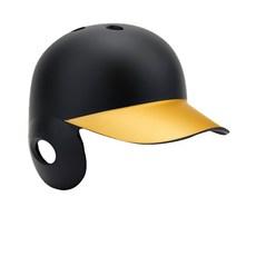 18.44 좌타용 야구 헬멧, 블랙 + 골드