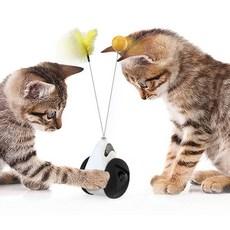 리스펫 고양이 로봇 코딱지볼 장난감, 블랙, 1개