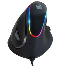 ZIO RGB 버티컬 인체공학 마우스 ZIO-i980, 블랙(다크 그레이)
