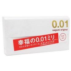 사가미 오리지널 0.01 초박형 콘돔, 5개입, 5개