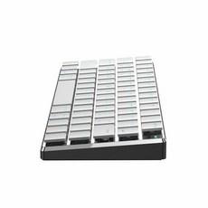 아이패드 맥북 태블릿 전용 블루투스 기계식 키보드, 화이트 화이트 샤프트, 한개옵션1