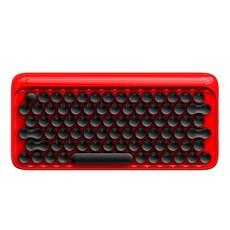 블루투스키보드 맥북키보드 아이패드키보드 무선키보드 휴대용키보드 멀티페어링 키보드 접이식키보드 기계식키보드도트 도트 블루투스 기계식 마우스 무선 복고풍 휴대 전화 사무실 키보드 1, 빨간, 공식 표준