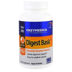 Enzymedica Digest Basic Essential Enzyme Formula 소화 효소 180베지캡슐