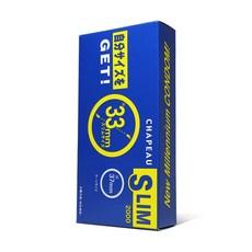 후지라텍스 슬림 2000 리얼 초박형 33mm 콘돔 10P, 1개, 10개입