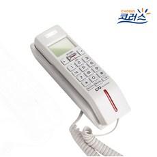 대우텔레폰 벽걸이 겸용 발신자번호 표시 유선 전화기, DT-220C(화이트)