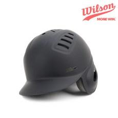 윌슨 사이즈 조절형 타자헬멧 무광 블랙 좌귀 야구헬멧