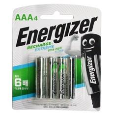 에너자이저 충전지 4알, AAA, 4개입