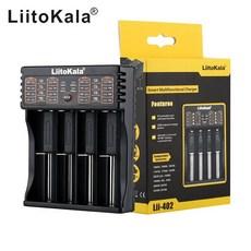 리토카라 스마트 만능 배터리 4구 충전기 Lii-402, 1개