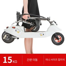 가볍고 간편한 미니 전기 자전거 전동스쿠터 전기보드, 24V 20~22KM, 블랙