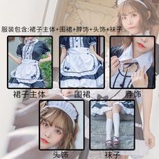 메이드복 여성 섹시 코스프레 코스프레 메이드 복장 풀세트 의류 애니메이션 캐릭터 프리미엄