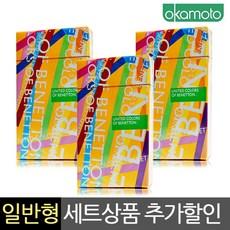 [NO-821]오카모토 일반형 콘돔 베네통 실속세트(36개입), 1세트, 36개입