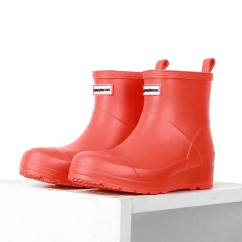 페이퍼플레인 패션 숏 방수 여성 레인 부츠 PP1400