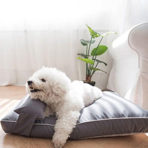 먼지 안붙는 강아지 꿀잠 코코방석 + 베개